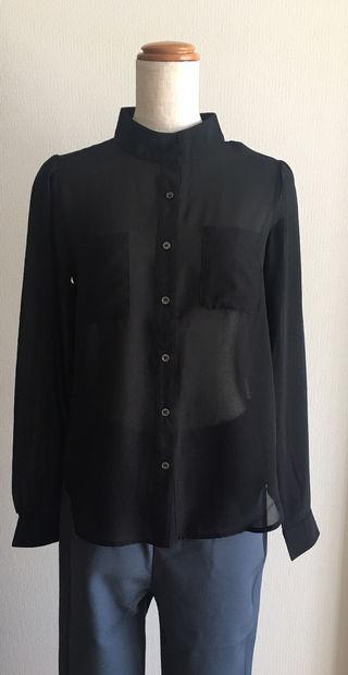 特別価格  立襟  シフォンシャツ