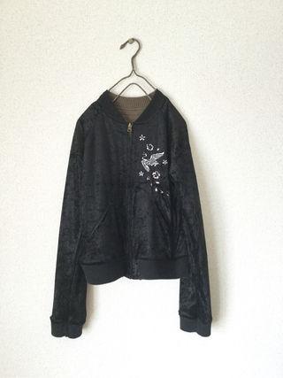 【定価7452円】新品ダブルネーム刺繍リバーシブルスカジャン