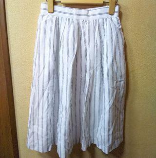 Te chichi 新品コードレーンストライプスカート