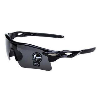 スポーツサングラス黒×黒 メンズレディース兼用 超軽量