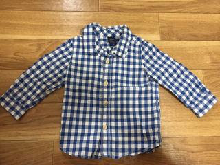 90cm GAP ブルーチェックシャツ