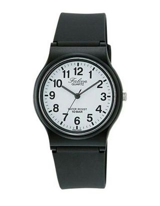 3colorシチズンQ&Q腕時計アナログ ファルコン 黒 白