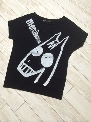 mercibeaucoup,プリントTシャツ
