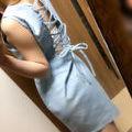 定価8964円 今期DaTuRa 色あせデニムワンピ