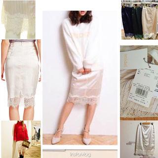 snidel裾レースタイトスカート