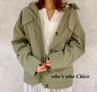 新品 who's who Chicoツイルフライトジャケット