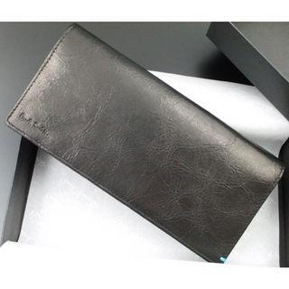 新品箱付 ポールスミス 上質ゴートレザー使用 長財布 黒