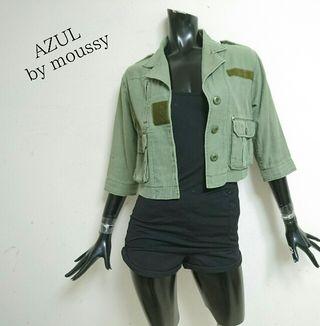 AZUL by moussy*ミリタリーショートジャケット