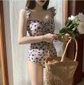 花柄フリルワンピース水着  韓国ファッション