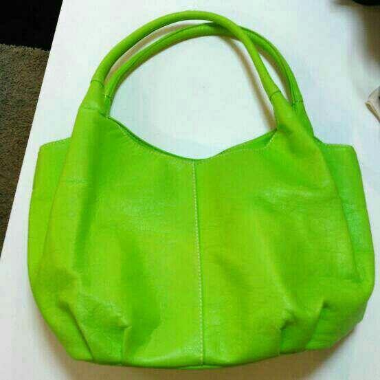 d9f930309907 montaria合成皮革・黄緑・トートバッグ - フリマアプリ&サイトShoppies[ショッピーズ]