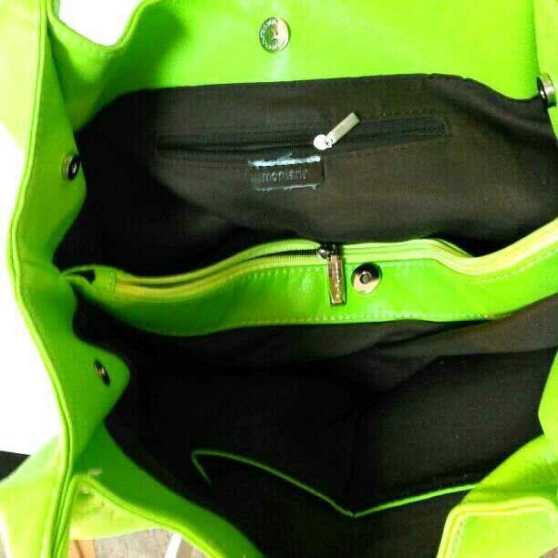 7443f50ec4df ... フリマアプリ&サイトShoppies[; montaria合成皮革・黄緑・トートバッグ; montaria合成皮革・黄緑・トートバッグ ...