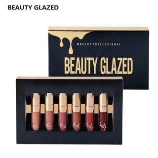 新品beauty glazed マットリップグロス 6本
