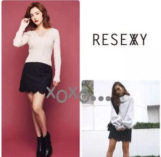 新品 RESEXXY 総レースタイトスカート