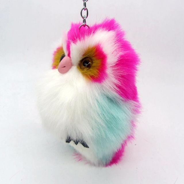 ピンク ふわふわフクロウ