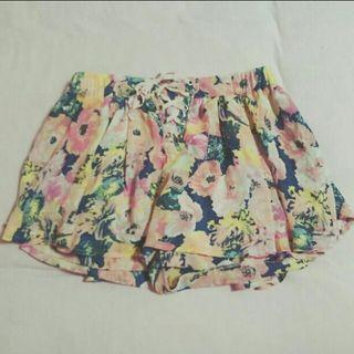 花柄シフォンスカートパンツ