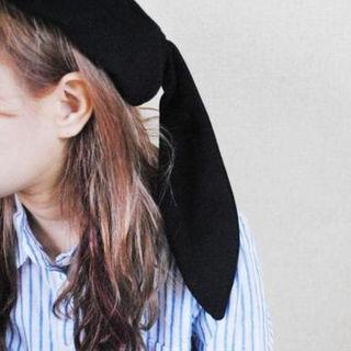 うさ耳ベレー帽 【ブラック】