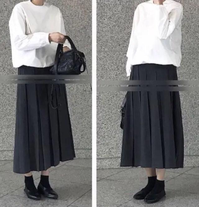 太プリーツ ロング スカート モード系デザイン - フリマアプリ&サイトShoppies[ショッピーズ]