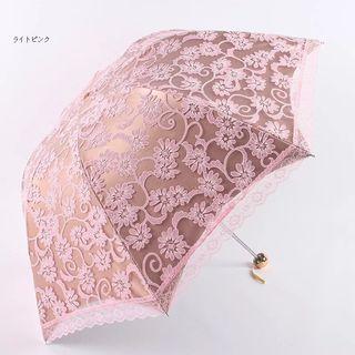 プリンセス風 折りたたみ傘  晴雨兼用 お姫様に視線集中!