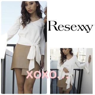 新品 RESEXXY フェイクレザー ラップスカート