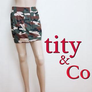 もて服ティティアンドコー  カモフラ カジュアルスカート