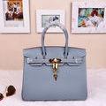Hermesエルメス ハンドバッグ ブルー 人気美品