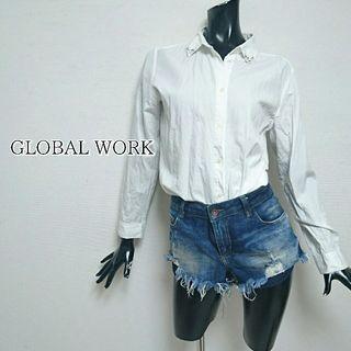 GLOBAL WORK*ビジューシャツ