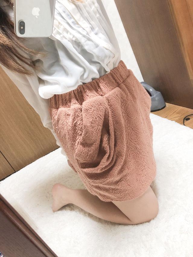 106.rienda オレンジ バルーン スカート