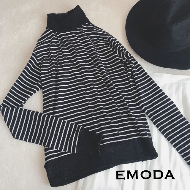 EMODA★ボーダータートルネックトップス(EMODA(エモダ) ) - フリマアプリ&サイトShoppies[ショッピーズ]