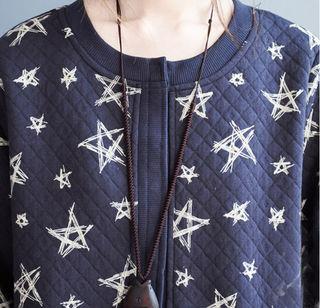 星柄ブルゾン ジャケット 羽織り XL