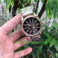 腕時計スケルトン文字盤41MMシャパゴールド