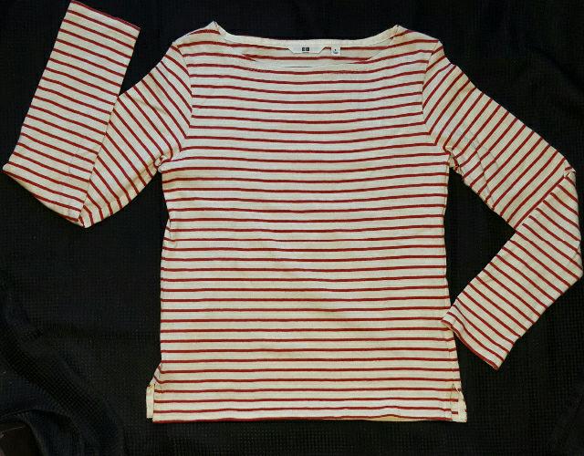 ボーダーTシャツ 赤