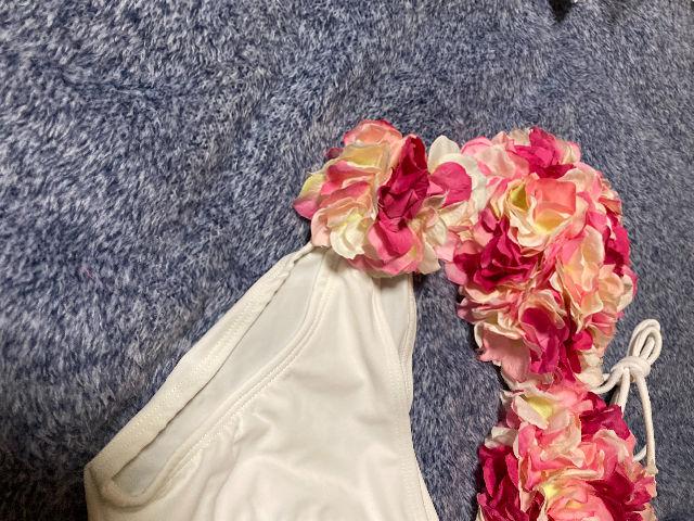 水着 ビキニ 花 ピンク×白 Sサイズ 新品未使用
