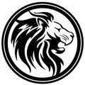 (小) カッティングシート ライオン Lion ステッカー