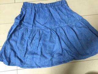 デニム生地スカート
