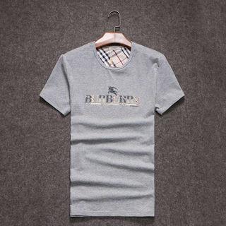 メンズ バーバリー半袖100%コットTシャツ おしゃれ