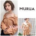 新品 MURUA オフショルダー ストラップシャツ