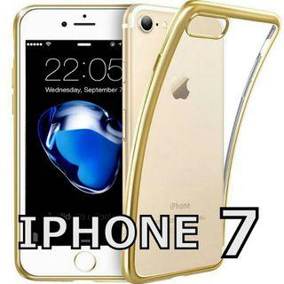 iphone7 tpu ソフトケース (ゴールド)