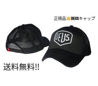 DEUS キャップ(ブラックホワイト)