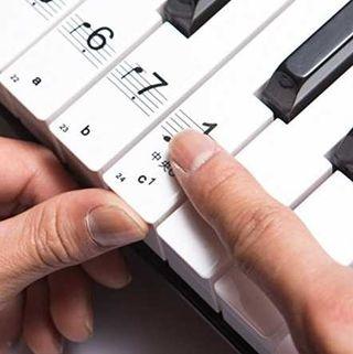 ピアノ 用 88鍵盤 音符 シール ステッカー 初心者に