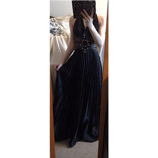 IRMA高級ロングドレス プリーツ