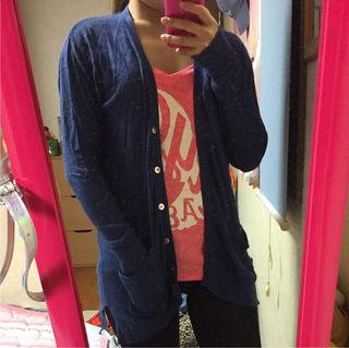 GU 青色 カーディガン