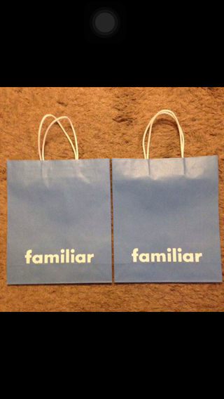 familiar紙ショップ袋2枚