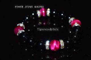 ピンクタイガーアイレディースのパワーストーン 数珠