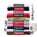 SUPREME 刺繍 2枚セット男女兼用 Tシャツ 超人気