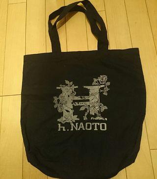 h.NAOTO トートバッグ   黒