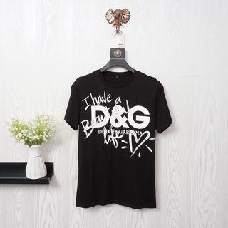D&G春夏Tシャツカップル 半袖カットソー