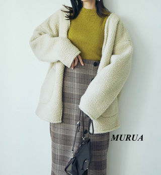 新品 MURUA ボアコート