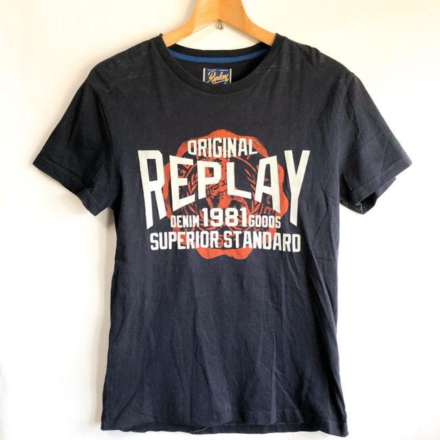 REPLAY リプレイ プリント Tシャツ ネイビー S(Replay(リプレイ) ) - フリマアプリ&サイトShoppies[ショッピーズ]