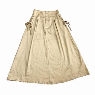 titivate/サイドレースアップミドル丈スカート