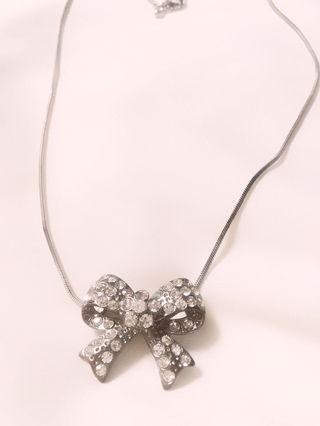 jewelry リボンビジュー ネックレストップ